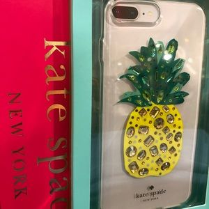kate spade jeweled pineapple case for iPhone 7+/8+